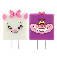 【Disney】 可愛 充電轉接插頭 USB轉接頭-柴郡貓 瑪麗貓