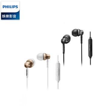 PHILIPS 飛利浦 入耳式耳機麥克風 SHE8105 GD/BK