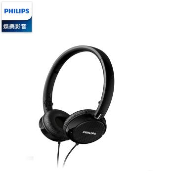 PHILIPS 飛利浦 輕量摺疊耳罩/頭載式立體耳機 FS3 / FS3BK