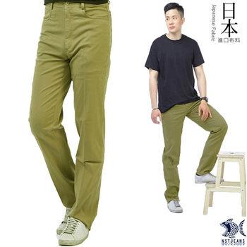 【NST Jeans】 390(5520) 美式橄欖綠 榮耀皇冠 休閒長褲(中腰)-行動