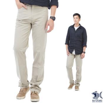【NST Jeans】390(5527) 日式職男 夏日淺卡其 休閒長褲(中腰)-行動