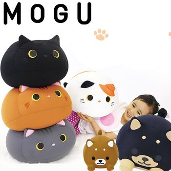 【日本MOGU】幸福Q胖貓 憨憨小柴犬 可愛抱枕/舒壓靠枕‧日本原裝進口