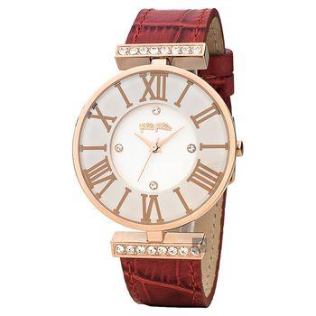 Folli Follie DYNAST 時尚教主石英腕錶-白x紅/36mm WF1B029SSS-RE