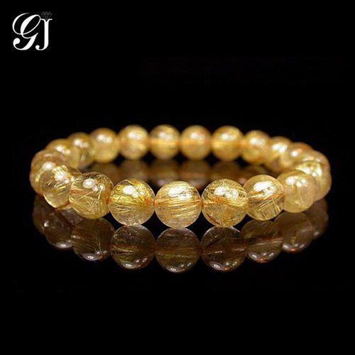 [晉佳珠寶] Gemdealler Jewellery 天然8mm鈦晶圓珠手鍊/手珠 重20.2g