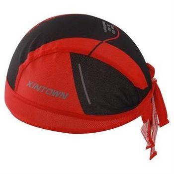 【米蘭精品】自行車頭巾吸汗運動頭巾簡約紅色素面設計73fo20