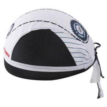 【米蘭精品】自行車頭巾抗紫外線運動頭巾經典齒輪白海造型73fo43