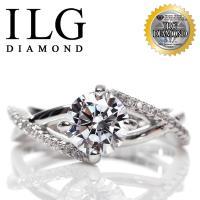 【頂級美國ILG鑽飾】頂級八心八箭鑽石戒指-Kissing love款RI127(白K金色)1.25克拉