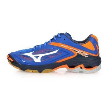 【MIZUNO】WAVE LIGHTNING Z3 男排球鞋-美津濃 藍螢光橘
