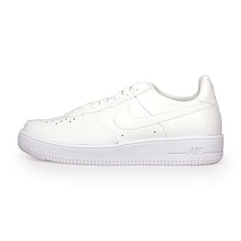 【NIKE】AIR FORCE 1 ULTRAFORCE LTHR 男復古鞋 白
