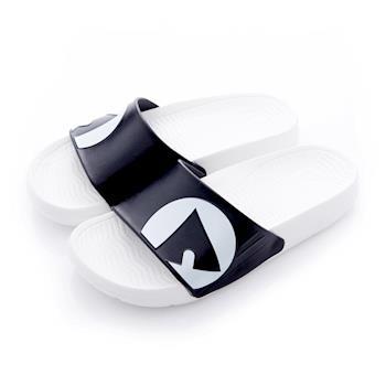 【美國 AIRWALK】輕盈舒適中性EVA休閒多功能室內外拖鞋 - 熊貓白黑