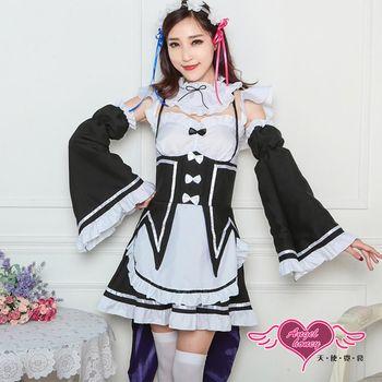天使霓裳  角色扮演 專屬服侍 甜美燕尾女僕制服表演服(黑F) QF2224
