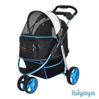 【IBIYAYA依比呀呀】尊爵號鋁合金寵物推車-極光藍(FS1616)