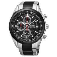 SEIKO 精工 競速巔峰計時腕錶-黑x雙色錶帶/45mm 8T67-00A0R(SSB201P2)