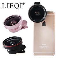 LIEQI 0.6X廣角+10X微距 二合一鏡頭 LQ-025 通用型手機平板鏡頭夾 鋁合金外殼
