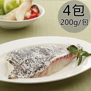 天和鮮物 龍虎斑帶皮魚排4包(200g/包)