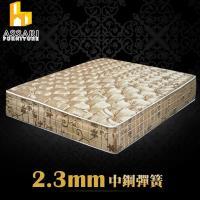 ASSARI-完美厚緹花布強化側邊冬夏兩用彈簧床墊(雙人5尺)