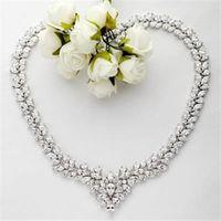 【米蘭精品】純銀項鍊鍍白金鑲鑽吊墜亮麗精緻奢華品味73ct64