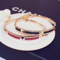 【米蘭精品】玫瑰金純銀手環鑲鑽手鍊時尚高貴優美滿鑽2色73bx55