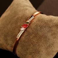 【米蘭精品】玫瑰金純銀手環鑲鑽手鍊精緻高貴時尚百搭2色73bx67