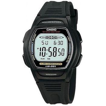 【CASIO】 10年電量電子運動錶-黑按鍵 (LW-201-1A)