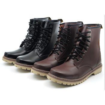 【 101大尺碼女鞋】MIT超人氣馬丁男靴-咖啡色.女大尺碼可穿.情侶同穿♥LKRN-C