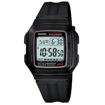 【CASIO】 超強進化10年電力數位方塊錶-白框 (F-201WA-1A)