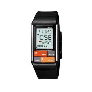 【CASIO】 太空漫步幾何方塊數字錶-黑 (LDF-50-1A)