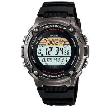 【CASIO】 太陽能全方位運動數位錶-深灰框 (W-S200H-1A)