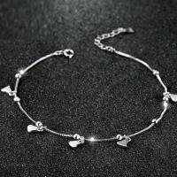 【米蘭精品】925純銀腳鍊銀飾優雅流行甜美愛心73ib31