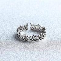 【米蘭精品】925純銀戒指皇冠開口戒時尚高貴宮廷風可調節73gp2
