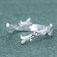 【米蘭精品】925純銀戒指枯樹枝開口戒時尚個性創意獨特73gp3