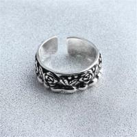 【米蘭精品】925純銀戒指玫瑰開口戒文藝復古優雅氣質73gp14