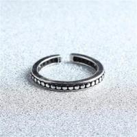 【米蘭精品】925純銀戒指圓點開口戒韓版復古百搭流行73gp15