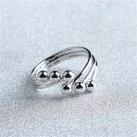【米蘭精品】925純銀戒指圓珠開口戒時尚大方百搭流行73gp17