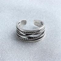 【米蘭精品】925純銀戒指多層麻花結開口戒時尚個性大方百搭73gp21