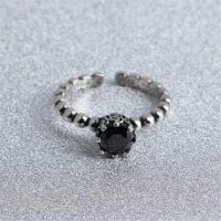 【米蘭精品】925純銀戒指瑪瑙開口戒簡約百搭時尚流行73gp37