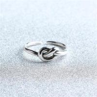 【米蘭精品】925純銀戒指單結開口戒時尚簡約百搭流行73gp45