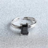 【米蘭精品】925純銀戒指瑪瑙開口戒復古高貴簡約流行73gp48