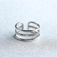 【米蘭精品】925純銀戒指三線圈開口戒韓版時尚大方可調節73gp54