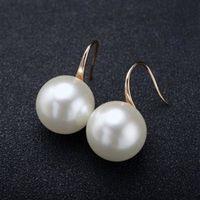 【米蘭精品】925純銀耳環珍珠耳飾簡潔低調個性百搭2色73gt31