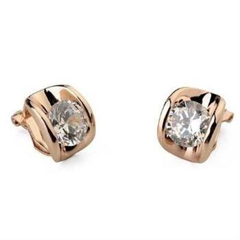 【米蘭精品】925純銀耳環水晶耳飾歐美高雅經典耀眼4色73gt70