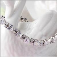 【米蘭精品】925純銀手鍊鑲鑽手環簡約經典優雅氣質73ak165