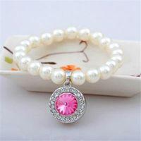 【米蘭精品】925純銀手鍊珍珠手環古典唯美優雅氣質4色73ak183