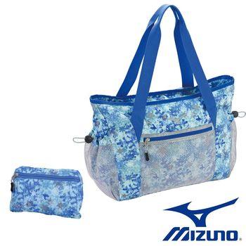Mizuno 美津濃 女用可收納式側肩袋 (水藍) D3TS680121