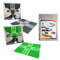 【Tico微型積木】城市道路底板-公園綠+柏油灰+零件補充包 9907-A+9907-B+9901