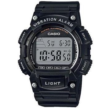 【CASIO】 強悍頂尖休閒玩家必備數位運動錶-黑 (W-736H-1A)