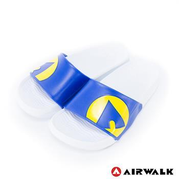 【美國 AIRWALK】輕盈舒適中性EVA休閒多功能室內外拖鞋 - 藍黃