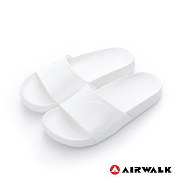 【美國 AIRWALK】輕盈舒適中性EVA休閒多功能室內外拖鞋 - 簡白