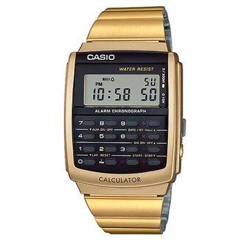 【CASIO】 潮流時尚經典復古8位元計算商務錶-金 (CA-506G-9A)