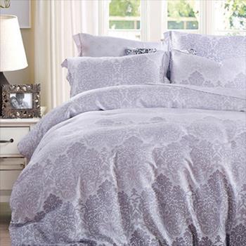 【情定巴黎】午后摩卡 100%高密嫩柔天丝加大四件式两用被床包组